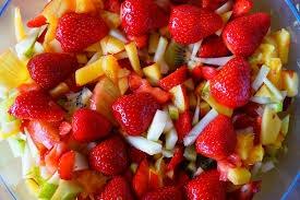 Frutas con Miel y Curcuma